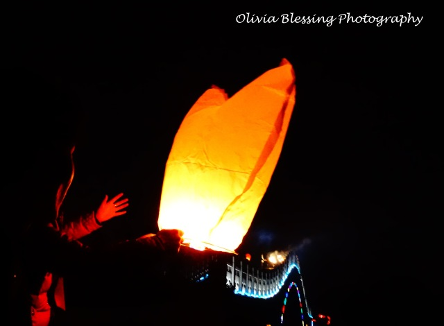 Lanterns lit during the Lantern Festival 2015